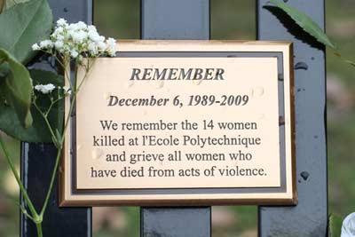 برگزاری یادبود قربانیان قتل عام پلی تکنیک مونترال