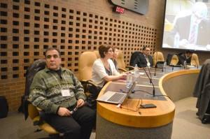 اعضای هیئت مدیره کنگره از راست: فرهنگ فرید، بهمن رودگرنیا، شهلا غفوری، سیما دینی، آرشاک شجاعی