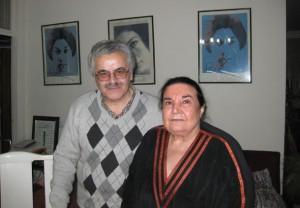 حسن گل محمدی در کنار پوران فرخزاد