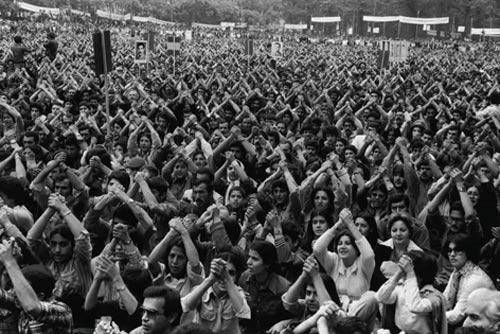 گردهمایی نیروهای چپ در دانشگاه تهران بهمن 57