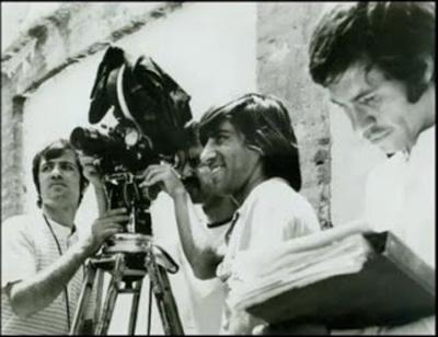 بهرام بیضایی کارگردان فیلم در سال 1971 در کنار دوربین