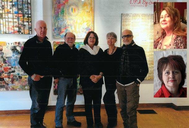 گروه هفت ارشدان از راست: مسی ویشدهی، سوزان کلارک، گابریل کرک، جمی مک لین، ایوان تروتر مری هنسون (بالا) و باربل اسمیت عکس های کناری هستند