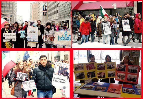حضور ایرانیان در راهپیمایی روز جهانی زن در تورنتو