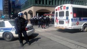 دستگیری تعدادی از تظاهرکنندگان در مونترال