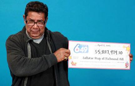 ایرانی ساکن ریچموندهیل برنده ی بخت آزمایی ۵ میلیون و ۸۰۰هزار دلاری شد
