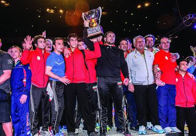 چهارمین قهرمانی پیاپی کشتی آزاد ایران در رقابتهای جام جهانی