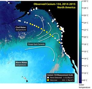 تشعشعات رادیو اکتیو فوکوشیمای ژاپن به سواحل کانادا رسید