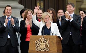 برگزاری مراسم سوگند ریچل نوتلی، به عنوان نخست وزیر آلبرتا