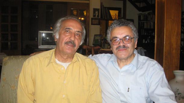 حسن گل محمدی (راست) در کنار محمدعلی سپانلو