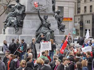 دستگیری ۸۴ نفر در تظاهرات روز اول ماه مه در مونترال