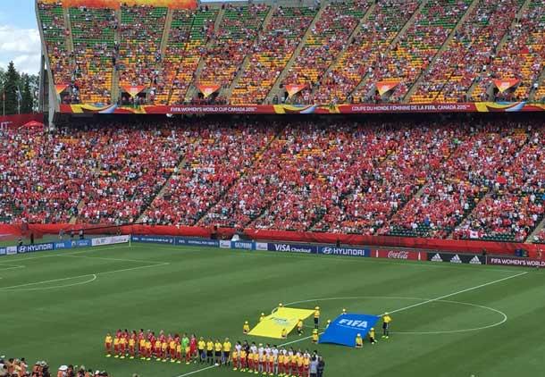 آغاز جام جهانی زنان در کانادا:  کانادا، چین را شکست داد