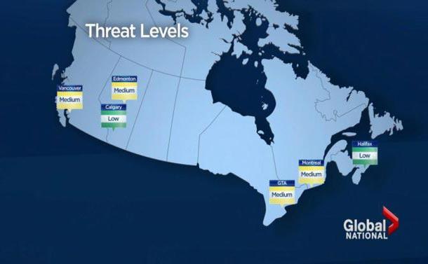 احتمال وقوع حمله تروریستی در شهرهای بزرگ کانادا