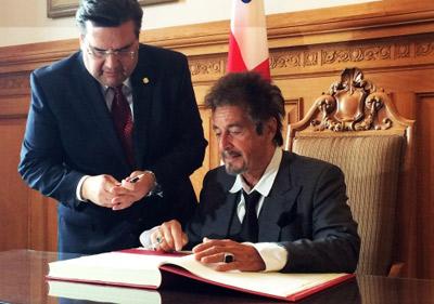 آل پاچینو شهروند افتخاری مونترال شد