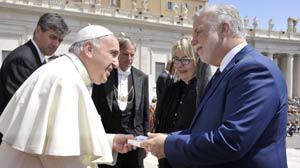 دعوت نخست وزیر کبک از پاپ  برای شرکت در جشن تولد مونترال