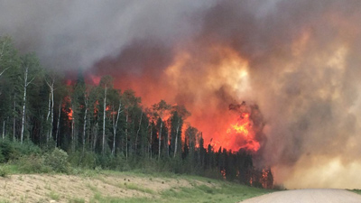 جنگل های ساسکچوان همچنان در آتش می سوزند
