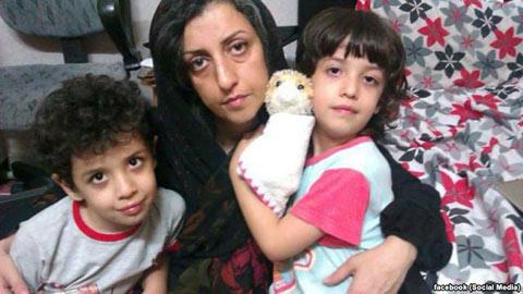 دلنوشته نرگس محمدی از زندان اوین: از فرزندانم مادرشان را ربودید!