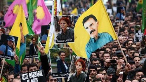 گردهمایی هواداران پ ک ک در ترکیه