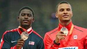 دونده ی کانادایی در مصاف با بزرگان به مدال برنز دست یافت