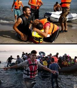 به ساحل رسیدگان در یونان
