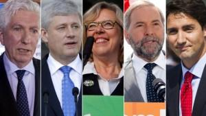 رهبران احزاب فدرال که در پارلمان نماینده دارند