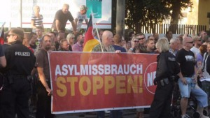 تظاهرات در مخالفت با حضور پناهندگان در آلمان