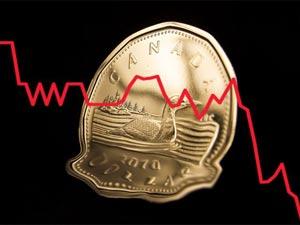 ارزش دلار کانادا به سال ۲۰۰۴ سقوط کرد