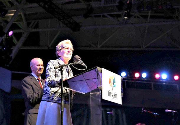 سخنرانی خانم کاتلین وین، نخست وزیر انتاریو در مراسم افتتاحیه جشنواره تیرگان