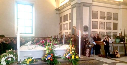 مراسم تشییع ناصر یوسفی در سوئد