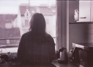 woman--window