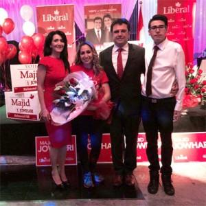 مجید جوهری و خانواده اش پیروزی را جشن گرفتند