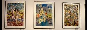 نمایشگاه ابریشم نگاره های ایرن مونیک صالحی/ فرح طاهری
