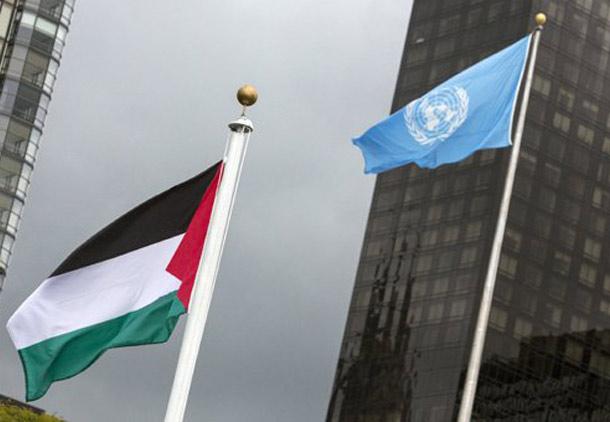 پرچم فلسطین در مقر سازمان ملل برافراشته شد