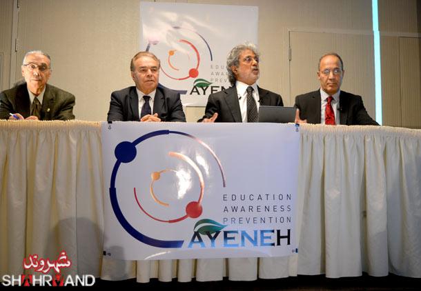 از راست: دکتر عباس آزادیان، داریوش اقبالی، دکتر صمد اسدپور، دکتر حسین عبداللهی ثانی