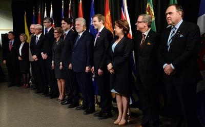 ملاقات ترودو با نخست وزیران استانها درباره محیط زیست