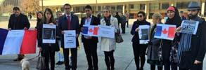 همدردی ایرانیان مقیم تورنتو  با مردم پاریس