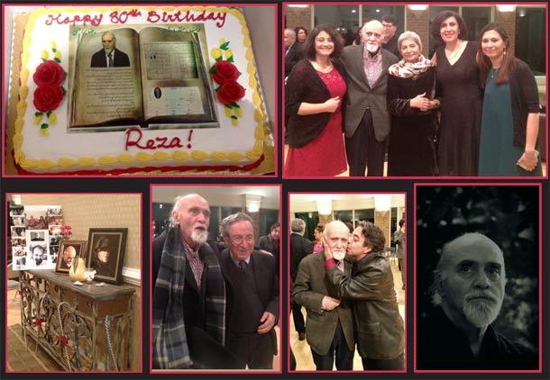 جشن تولد هشتاد سالگی دکتر رضا براهنی در آمریکا/صمصام کشفی