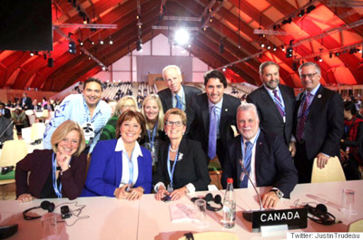 نقش چشمگیر و موثر کانادا در کنفرانس گرمایش زمین در پاریس