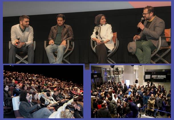 پنل جشنواره از راست: سیاوش شعبانپور، ساره بیات، حامد بهداد، امیر سلطانی