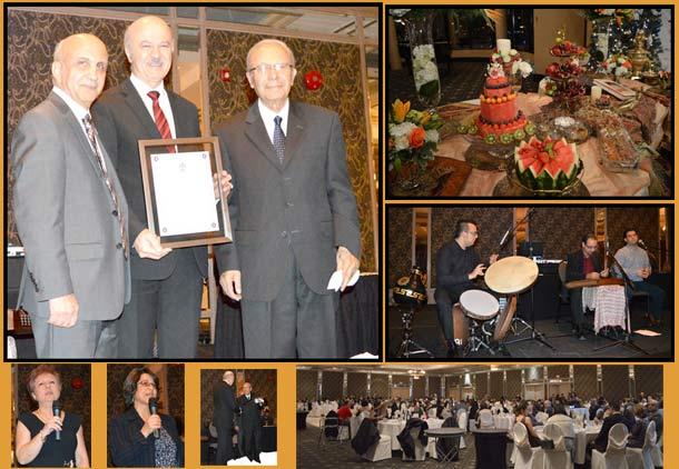 """اهدای لوح عضویت افتخاری """"مهندس"""" به دکتر رضا مریدی در جشن یلدا"""