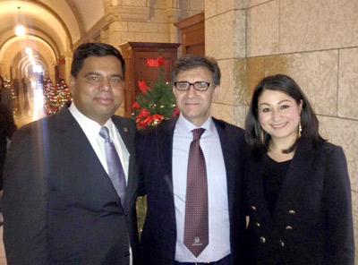 تقدیر از حسین رئیسی، وکیل فعال حقوق بشر در صحن مجلس کانادا
