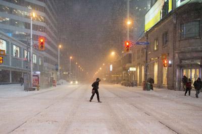 اولین برف و توفان زمستانی در قسمت های جنوبی انتاریو و کبک
