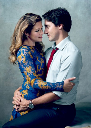جاستین ترودو و همسرش سوفی در مجله ی مد ووگ