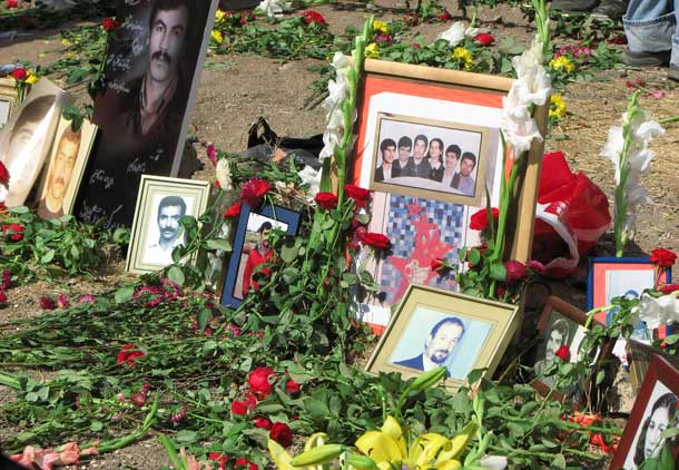 عکس های جانباختگان از جمله شش عضو خانواده بهکیش در خاوران