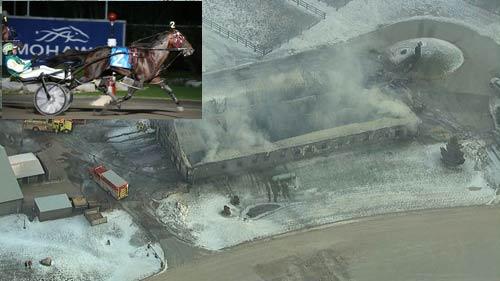 بیش از چهل اسب در آتش سوزی اصطبل سوختند