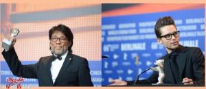 توماچ واسیلفسکی (راست) برندهی بهترین فیلمنامه ـ  یانگ چائو بهترین فیلمبرداری