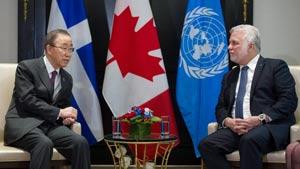 سفر رسمی دبیرکل سازمان ملل متحد به کانادا