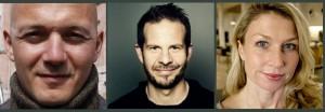 از راست: هله اورنس،بیورن اگیل هالوورسن،روبرت ویئوکر یوهانسن