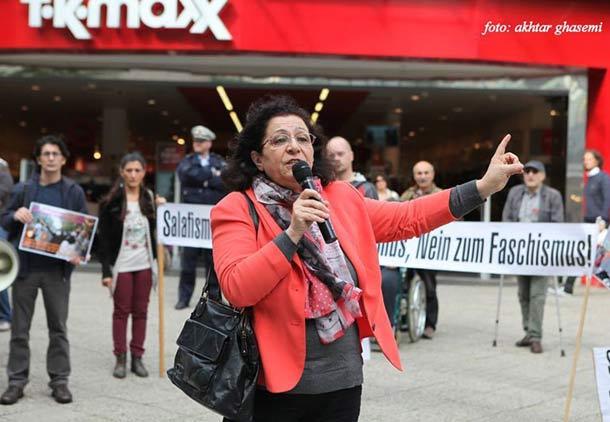 سخنرانی مینا احدی در مراسم همبستگی با زنان آزاده ایران