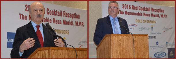 آقای کوین فلین وزیر کار و دکتر رضا مریدی وزیر آموزش عالی و وزیر پژوهش و نوآوری در مراسم سخنرانی کردند