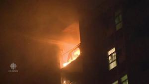 مادری با سه فرزندش به طور معجزه آسا از آتش سوزی گریخت